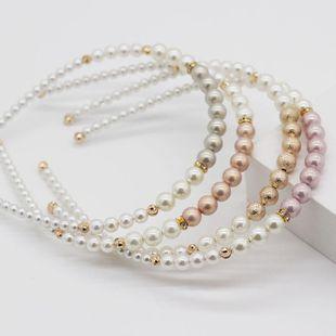 Nuevos accesorios para el cabello de perlas de moda Diadema de regalo casual coreana popular para dama proveedores de china NHWJ202547's discount tags