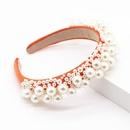 Fashion sponge hair hoop size pearl geometric prom hair accessory suppliers china NHWJ202548