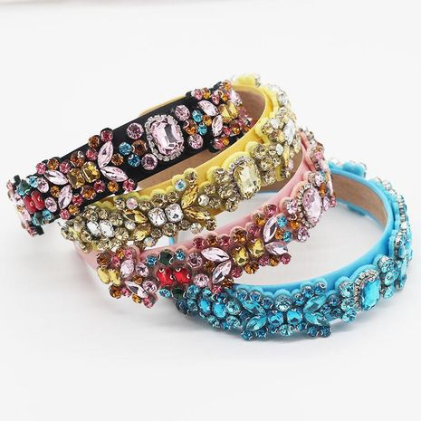 Baroque diamond color rhinestone three-dimensional hair hoop gift hair accessory suppliers china NHWJ202550's discount tags