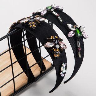 suppliers china Baroque headband for women cloth mosaic rhinestone bee dragonfly headband NHLN202554's discount tags