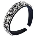 Fashion Inlaid Rhinestone Headband Thin Sponge Wide Edge Colorful Headband suppliers china NHLN202558