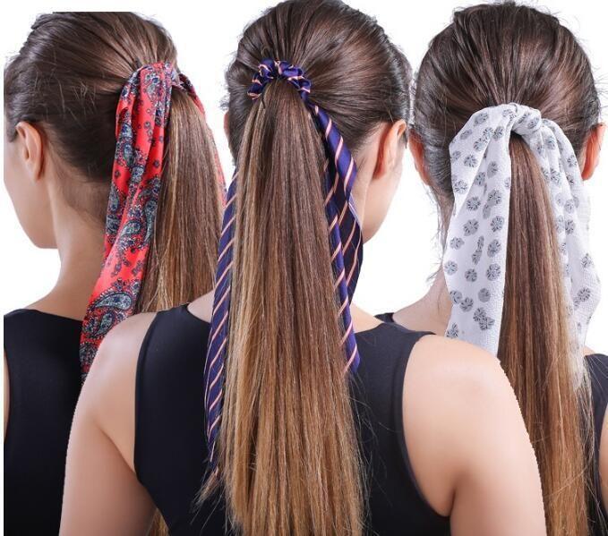 Fashionable long streamer headband bow head rope satin stripe dual-purpose cheap beam headband NHLN202568