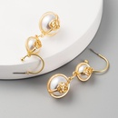 Jewellery for women long earrings cheap with gold and pearls wholesales yiwu  NHLN202570