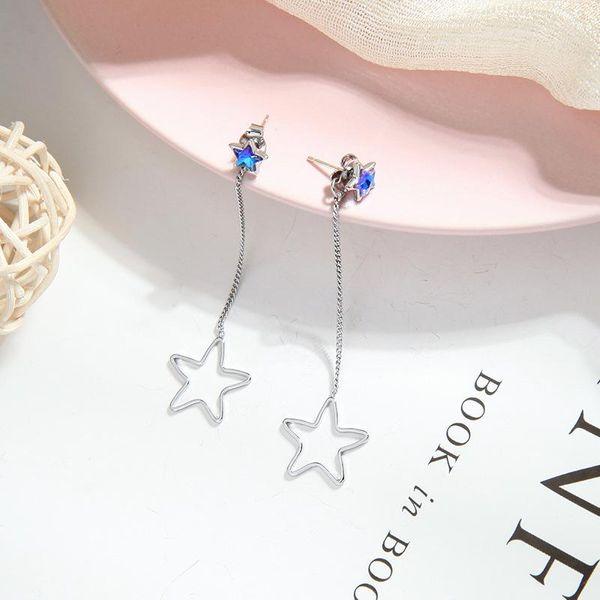 Fashion earrings for women fringed diamond earrings hollow star long earrings NHQD202581