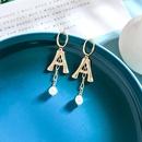 Fashion earrings for women letter A earrings geometric tassel 925 silver needle earrings long pearl earrings NHQD202585