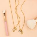 Fashion cheap jewelry Korean pendant goldplated diamond couple necklace pendant NHAS202596