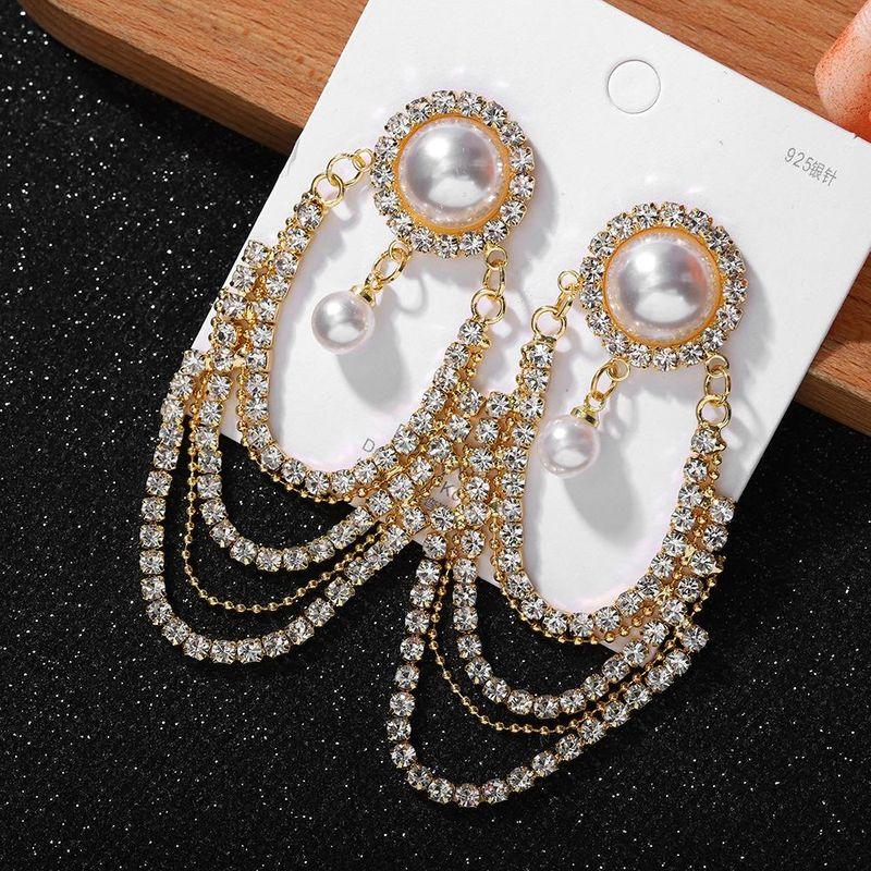 Jewellery for women New Fashion Tassel Diamond Earrings cheap wholesales fashion  NHJQ202609