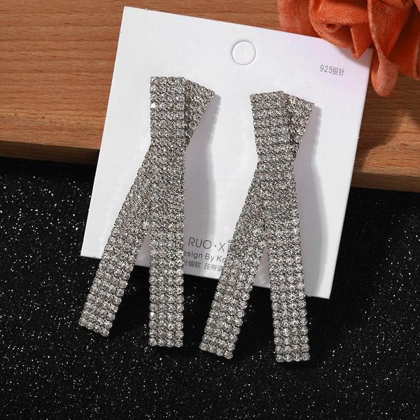 Jewellery for women 925 silver pin cross full diamond earrings for women fashion earrings cheap wholesales yiwu NHJQ202611