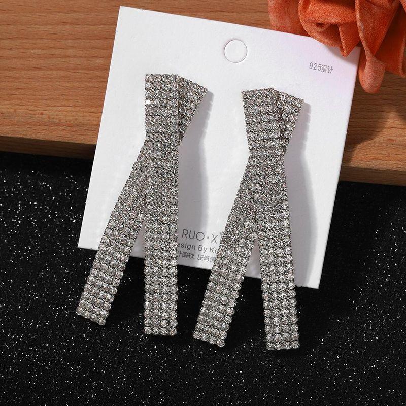 Jewellery for women 925 silver pin cross full diamond earrings for women fashion earrings cheap wholesales yiwu NHJQ202611