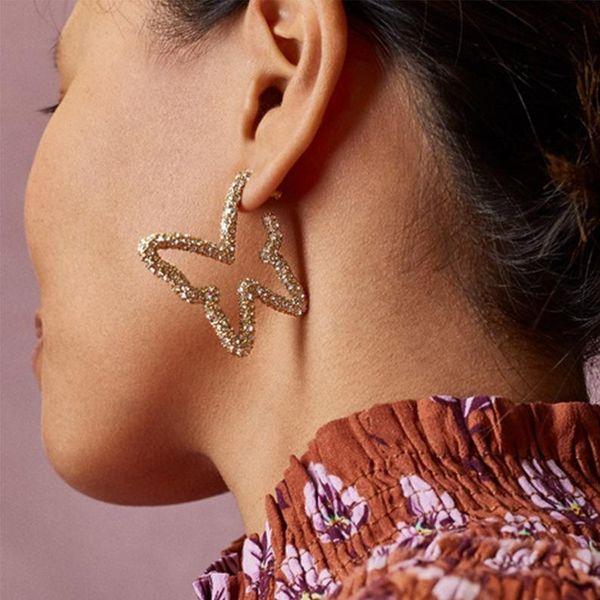 Jewellery for women Fashionable Simple Butterfly Diamond Earrings cheap New Ear Jewelry wholesales yiwu NHJQ202613