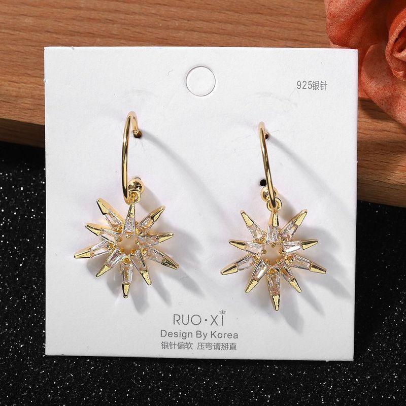 Korean crystal earrings women cross-border hot new fashion party ear hooks wholesales fashion NHJQ202623