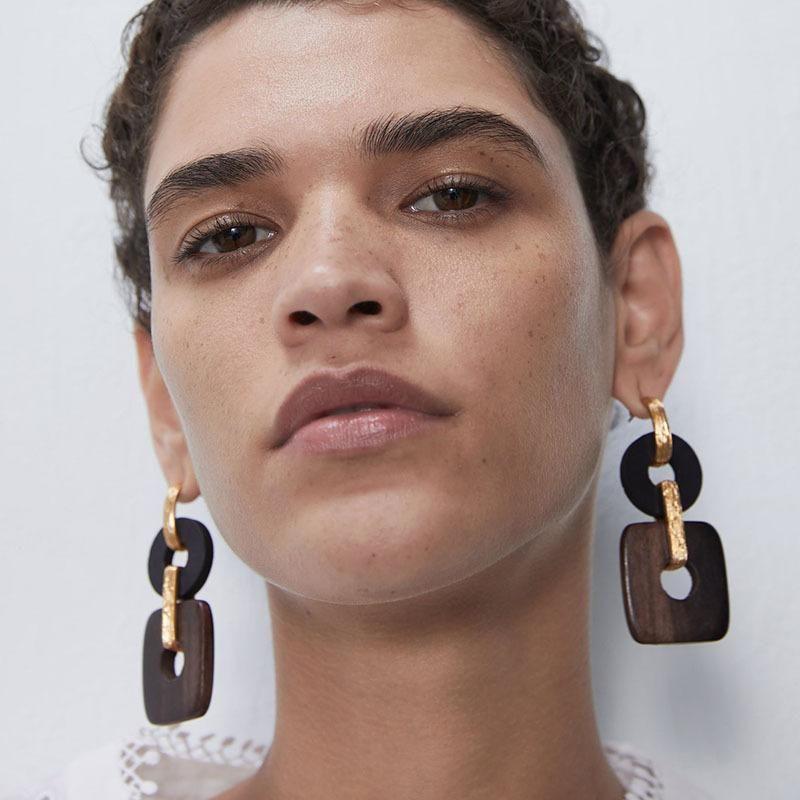 New Wooden Earring Fashionable Long Earrings wholesales yiwu NHJQ202627