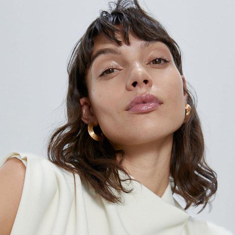 Simple fashion semi-circular earrings female new trendy punk earrings NHJQ202642