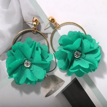 Fashion earrings for women Bohemian Hollow Fabric Woven Diamond Flower Earrings NHJQ202644