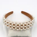 Baroque fashion hair hoop weaving big pearl casual daily prom hair hoop suppliers china NHCO202646
