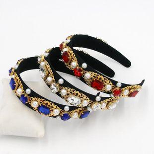 Baroque gem handmade metal hair hoop geometric hair hoop suppliers china NHCO202647's discount tags