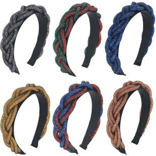 New elastic net yarn hair bead entwined twist hair hoop handmade braided headdress accessories suppliers china NHCO202654's discount tags
