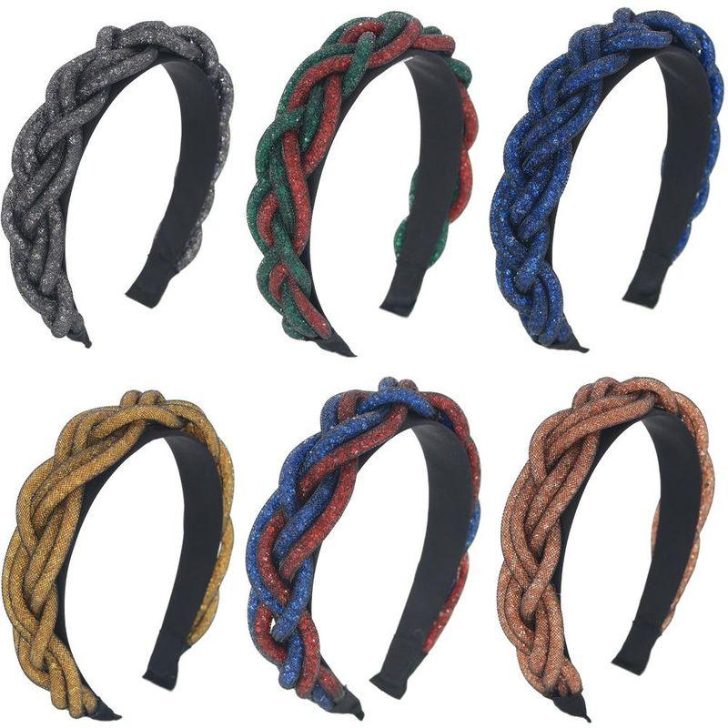 New elastic net yarn hair bead entwined twist hair hoop handmade braided headdress accessories suppliers china NHCO202654