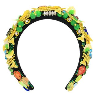 Baroque flowers hand-woven hair accessories fashion headband glass rhinestones suppliers china NHCO202662's discount tags