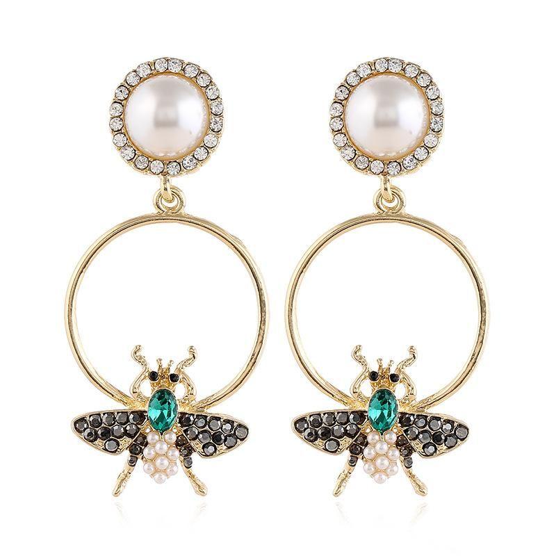 New exaggerated diamond earrings Korean simple geometric alloy earrings for women NHVA202678
