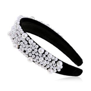 Cloth Joker Retro Pearl Headband Fashion Wide Edge Jewelry suppliers china NHVA202709's discount tags