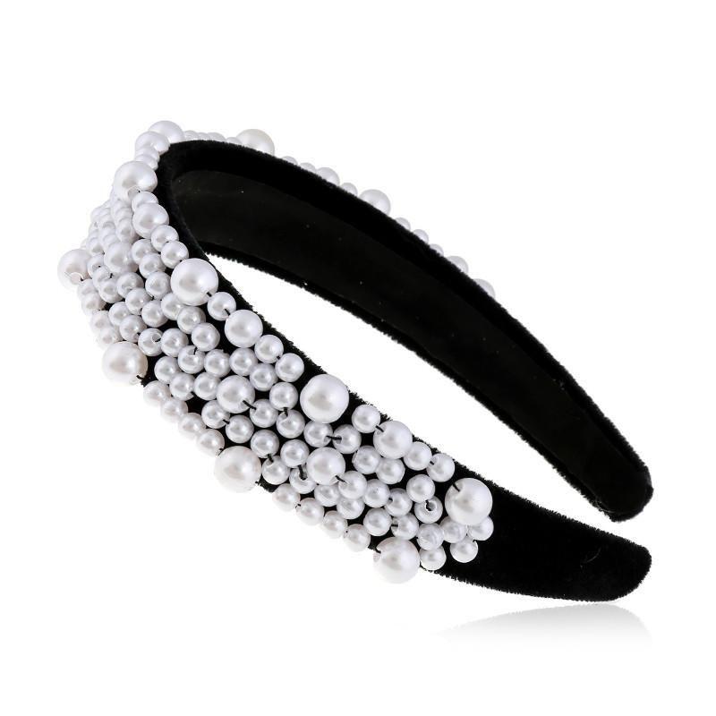 Cloth Joker Retro Pearl Headband Fashion Wide Edge Jewelry suppliers china NHVA202709