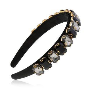 Korean hair accessories adult wild diamond headband simple hoop hairpin suppliers china NHVA202710's discount tags