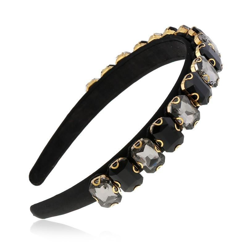 Korean hair accessories adult wild diamond headband simple hoop hairpin suppliers china NHVA202710