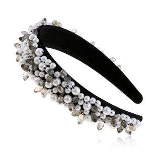 Pearl Hair Band Headdress Hair Clip Korean Simple Headband Adult Wide Edge Hair Accessories proveedores de china suppliers china NHVA202711's discount tags