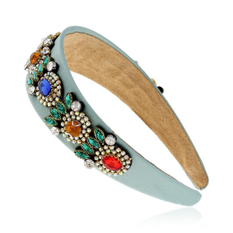 Korean adult headband wide-edge fabric diamond card suppliers china NHVA202715