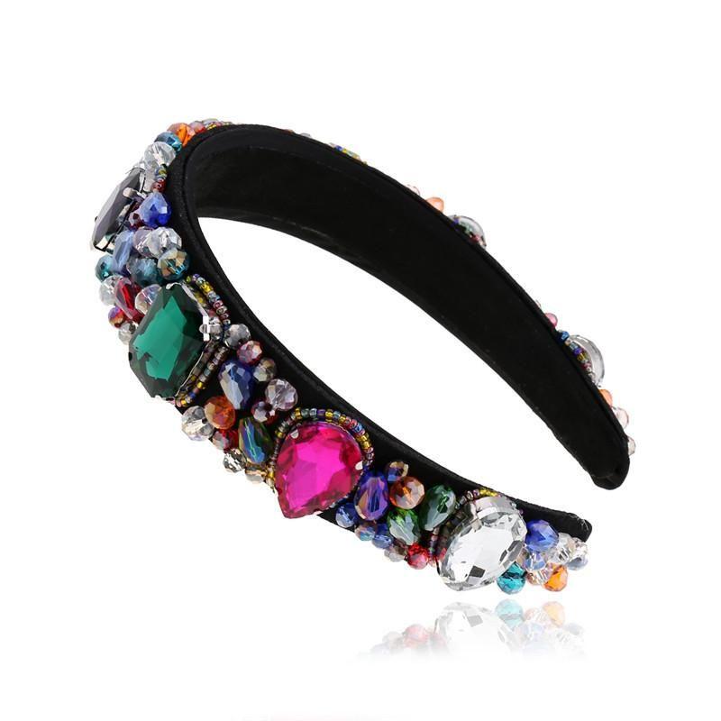 Korean fashion diamond headband for women simple sweet rhinestone headband suppliers china NHVA202718