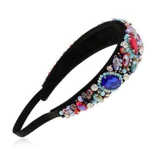Simple Exaggerated Headband for women Rhinestone Hairpin Adult Headband Headdress suppliers china NHVA202719's discount tags