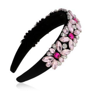 Simple hair accessories Korean rhinestone hair hoop headband hairpin head jewelry women suppliers china NHVA202720's discount tags
