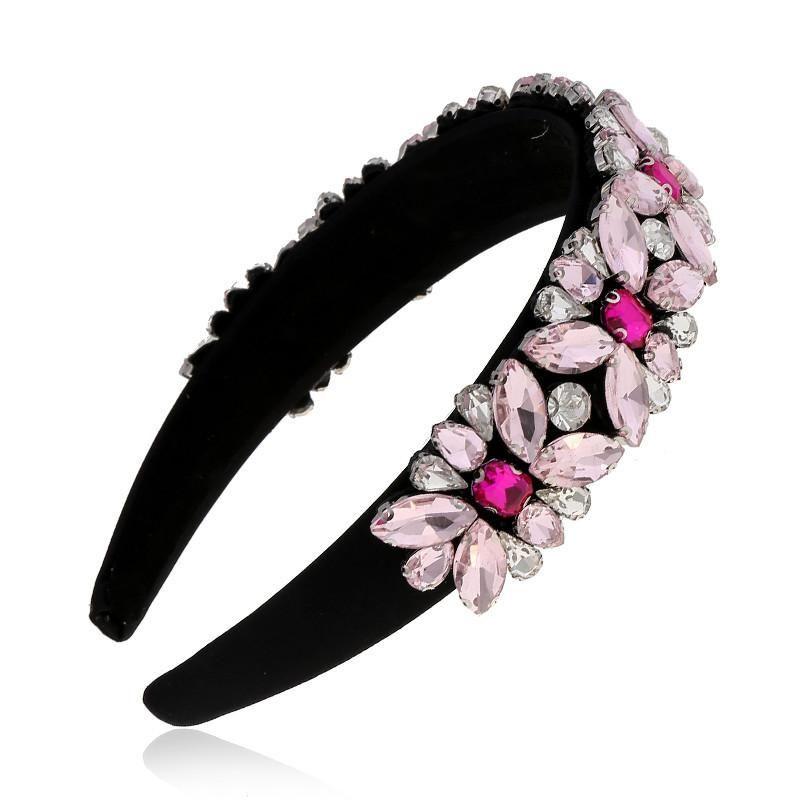 Simple hair accessories Korean rhinestone hair hoop headband hairpin head jewelry women suppliers china NHVA202720
