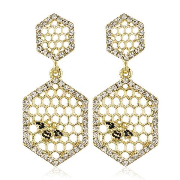 Fashion earrings for women alloy hollow bee earrings wholesale NHVA202728