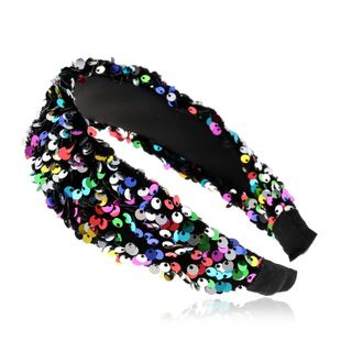 Fashion new sequins wide edge hair hoop for women adult hair band suppliers china NHVA202739's discount tags