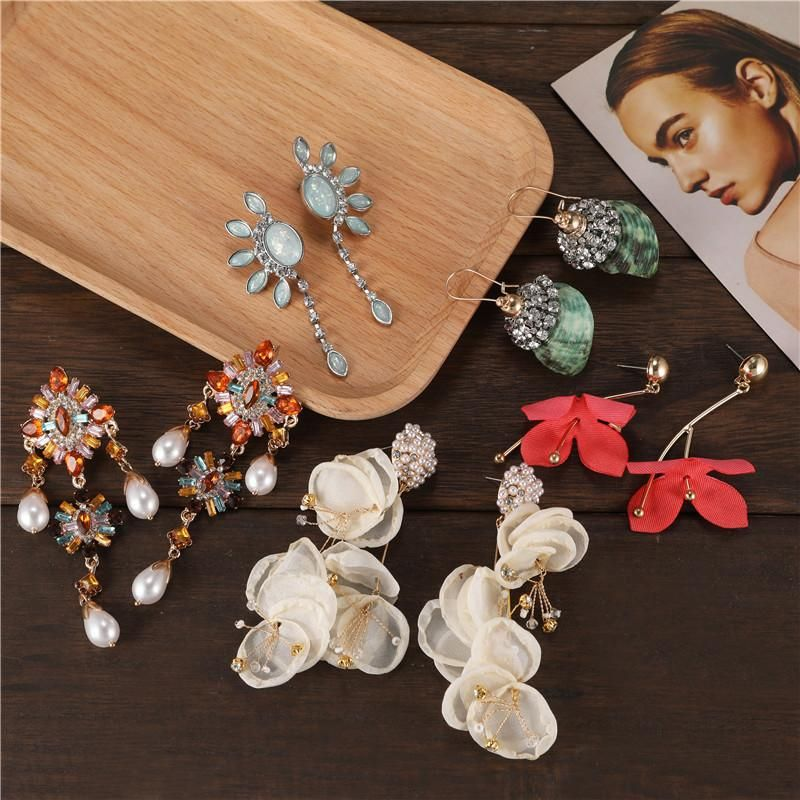 Exaggerated variety of earrings wholesale yiwu suppuliers china  NHJJ202754