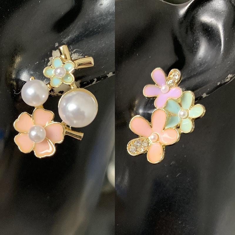 Pearl earrings sweet drip earrings flower earrings women wholesales yiwu suppliers china NHJJ202761