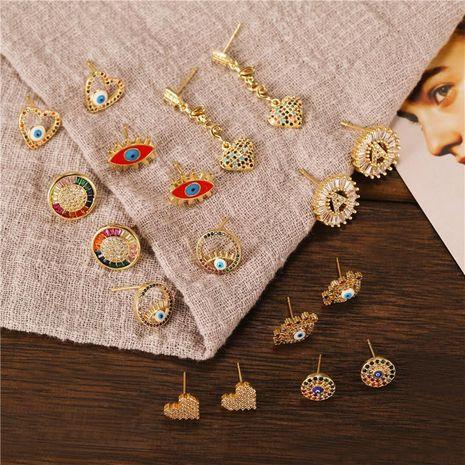 Nouvelles boucles d'oreilles couleur oeil combinaison boucles d'oreilles pour les femmes en gros fournisseurs de yiwu chine NHJJ202763's discount tags