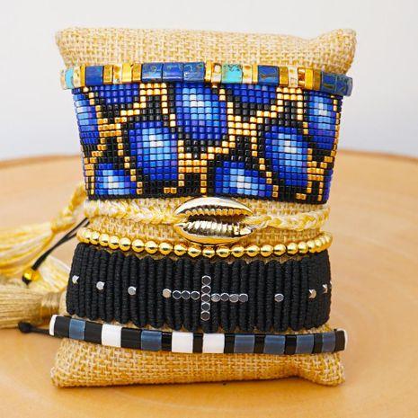 Miyuki Mizhu Weaving Leopard Friendship Rope Bracelet Fashion Ethnic Tila Bead Shell Jewelry wholesales yiwu supplieres china NHGW202778's discount tags