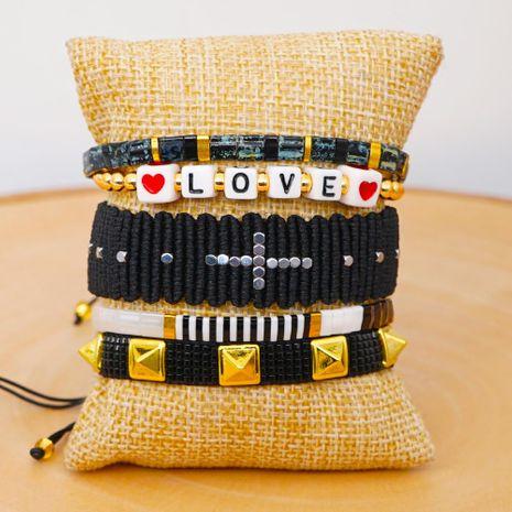 Miyuki Mizhu Weaving Friendship Rope Bracelet Fashion Ethnic Tila Bead Jewelry wholesales yiwu suppliers china NHGW202783's discount tags