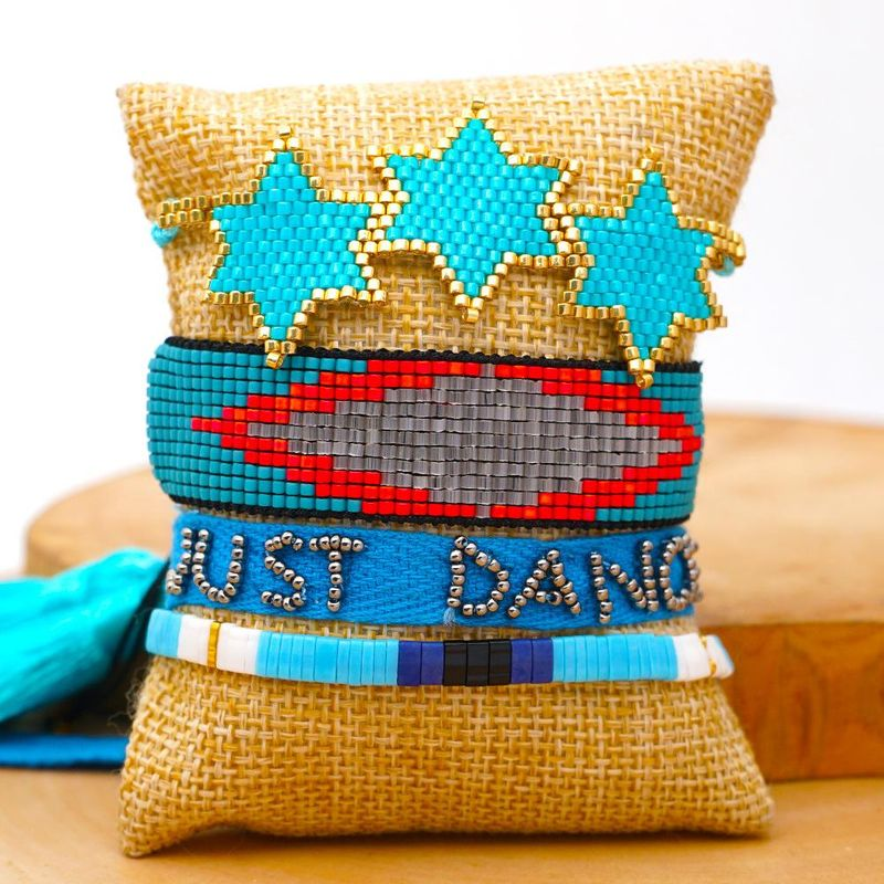 Miyuki rice beads hand-woven six-pointed star bracelet tila beads ribbon jewelry wholesales yiwu suppliers china NHGW202784