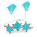 Miyuki rice beads handwoven sixpointed star bracelet tila beads ribbon jewelry wholesales yiwu suppliers china NHGW202784