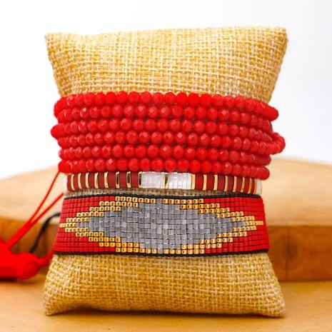 Fashion national style Miyuki bead woven devil's eye crystal bracelet jewelry wholesales yiwu supplieres china NHGW202785's discount tags
