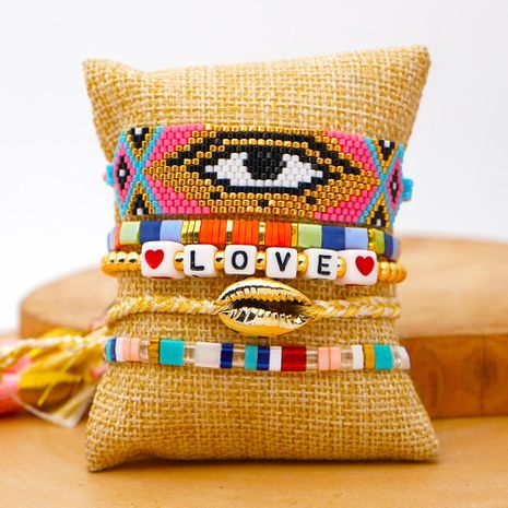 Miyuki Beaded Turkish Evil Eye Bracelet wholesales yiwu suppliers china NHGW202788's discount tags