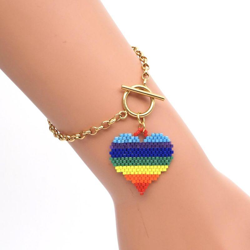 Friendship rope rainbow love hand-woven bracelet miyuki for women bracelet jewelry wholesales fashion NHGW202790
