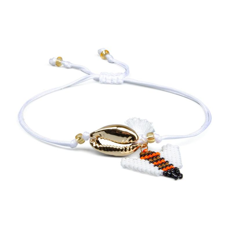 Miyuki woven bracelet DB antique Mizhu cross-border accessories golden shell fringed classic big wings bee NHGW202796