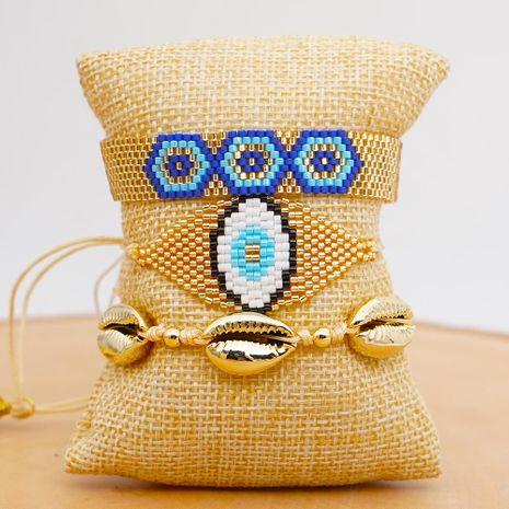 Miyuki Mizhu Hand Woven Evil Eye Jewelry Fashion Beach Natural Shell Gold Plated for women Bracelet NHGW202799's discount tags