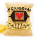 Miyuki Mizhu Hand Woven Evil Eye Copper Wire Tassel Jewelry Fashion 4mm Gold Bead for women Bracelet NHGW202801