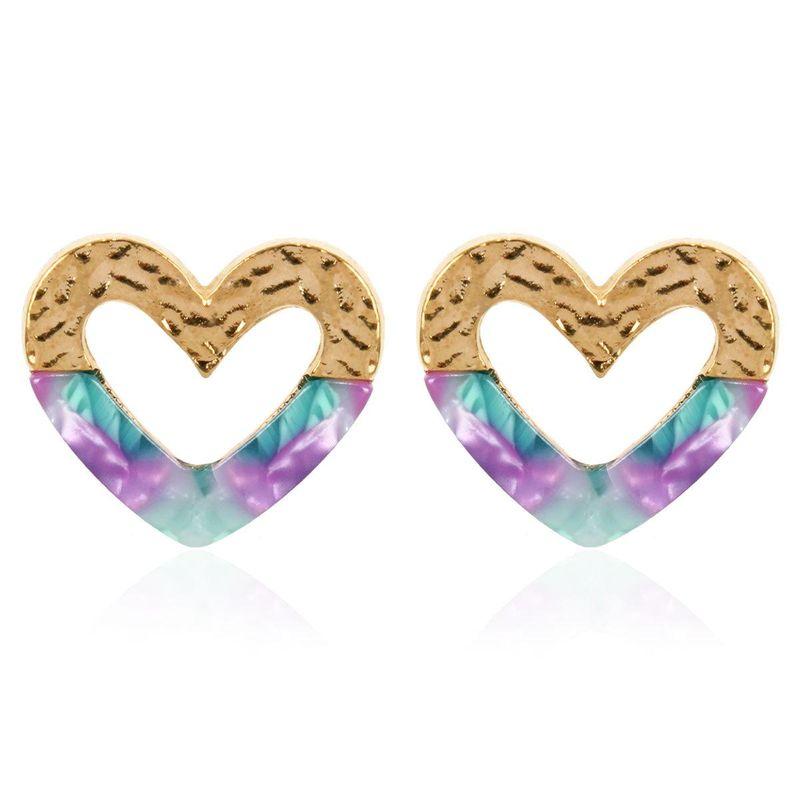 Fashion Acrylic Geometric Love Ear Girls Wholesale NHCT202807